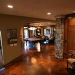 Ebony/Weathered Terracotta Acid Stained Basement Floor