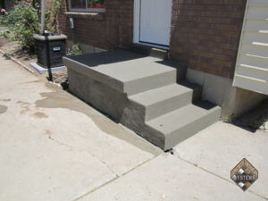 Standard Gray Overlay On Porch/Stairs