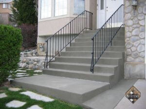 Restored Concrete Entry Steps