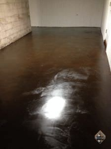 Walnut Acid Stained Basement Floor