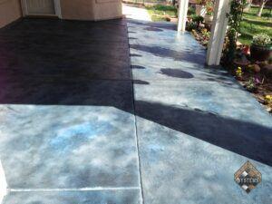 Cobalt Blue Textured Patio