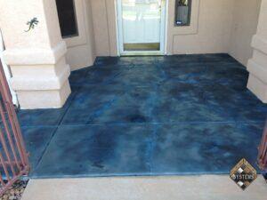 Cobalt Blue Decorative Front Porch Overlay