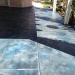 Cobalt Blue Decorative Patio Overlay