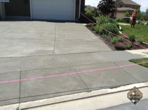 Resurfaced Gray Finished Driveway