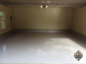 Epoxy Dolphin Gray Garage Floor With White Chips
