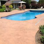 Solid Color Stained Pool Deck With Tique