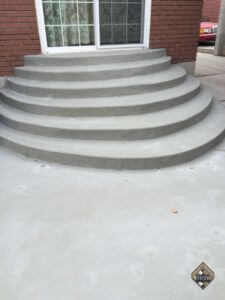 Plain Gray Finished Overlay Over Steps