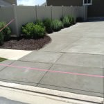 Standard Gray Resurfaced Concrete Driveway