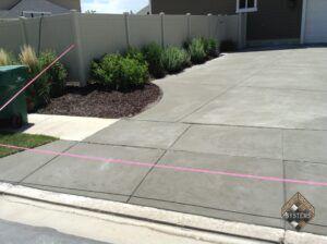 Standard Gray Resurfaced Concrete Driveway
