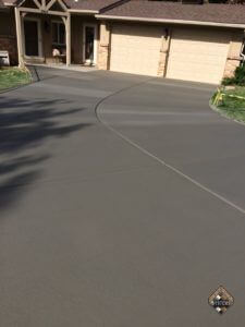 Broomed Finished Overlay On Driveway