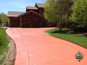 Solid Color Stained Park City Driveway