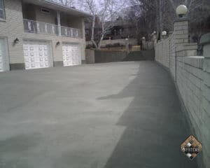 Standard Gray Overlay On Driveway