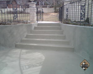 Standard Gray Overlay On Stairs/Retaining Walls