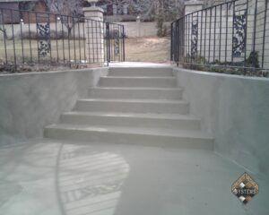 Standard Gray Overlay On Stairs/Retaining Walls