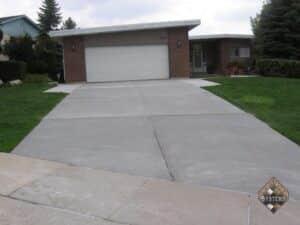 Gray Resurfaced Restored Driveway