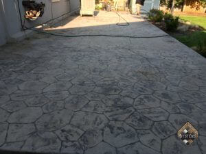 15-Year Old Stone Stamped Patio