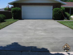 Standard Gray Resurfaced Finish Driveway