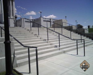 Plain Gray Resurfaced Stairs 1