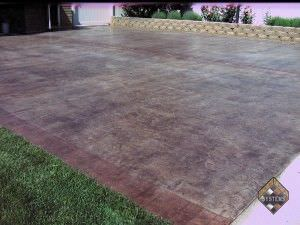 Acid Stained Overlay Driveway