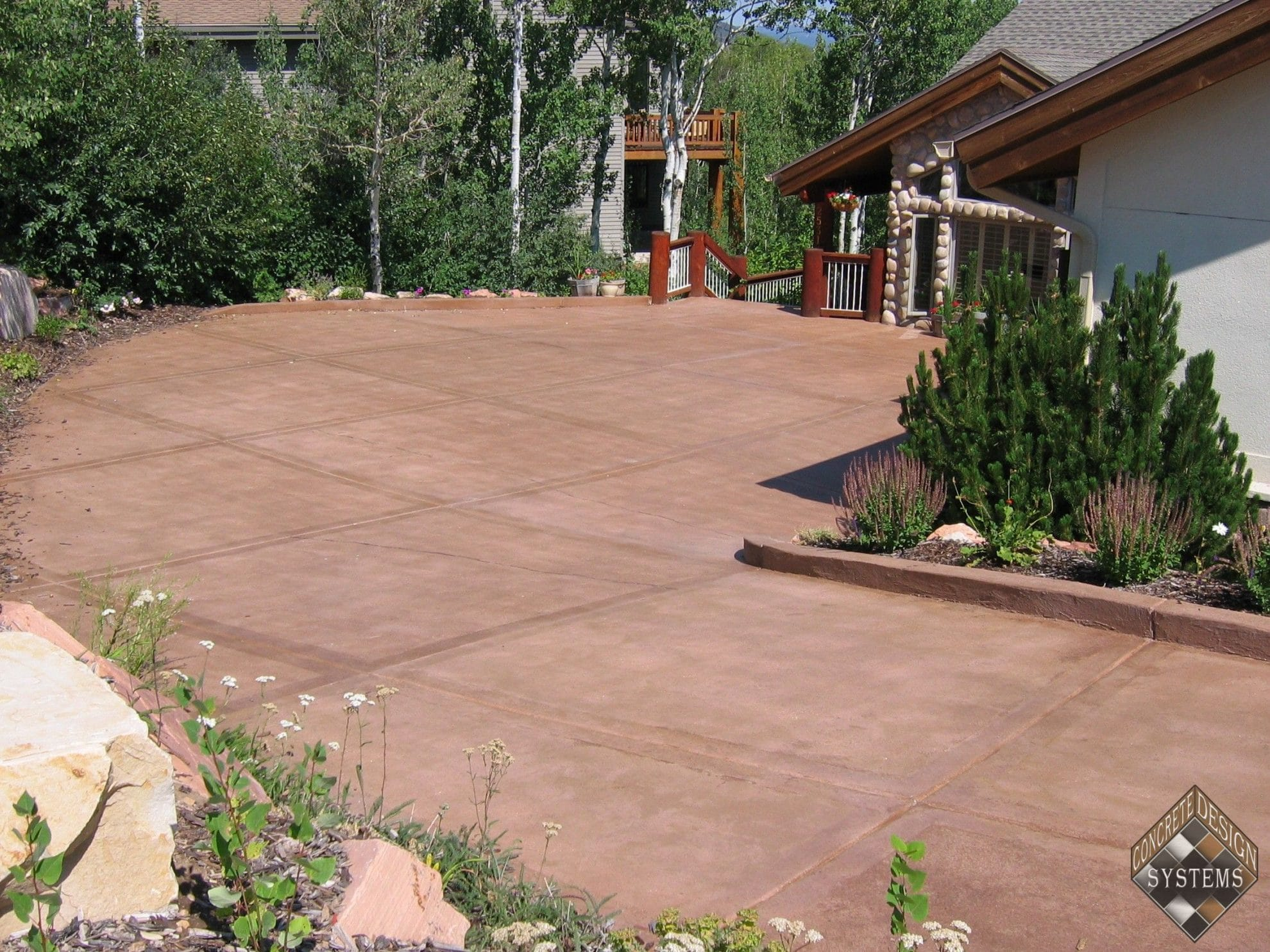 Driveway Acid Stained Concrete Design Systems Salt