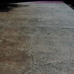 Driveway Cracked Rock Pattern Overlay