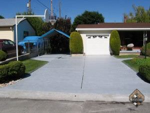 Driveway Slate Color Stained