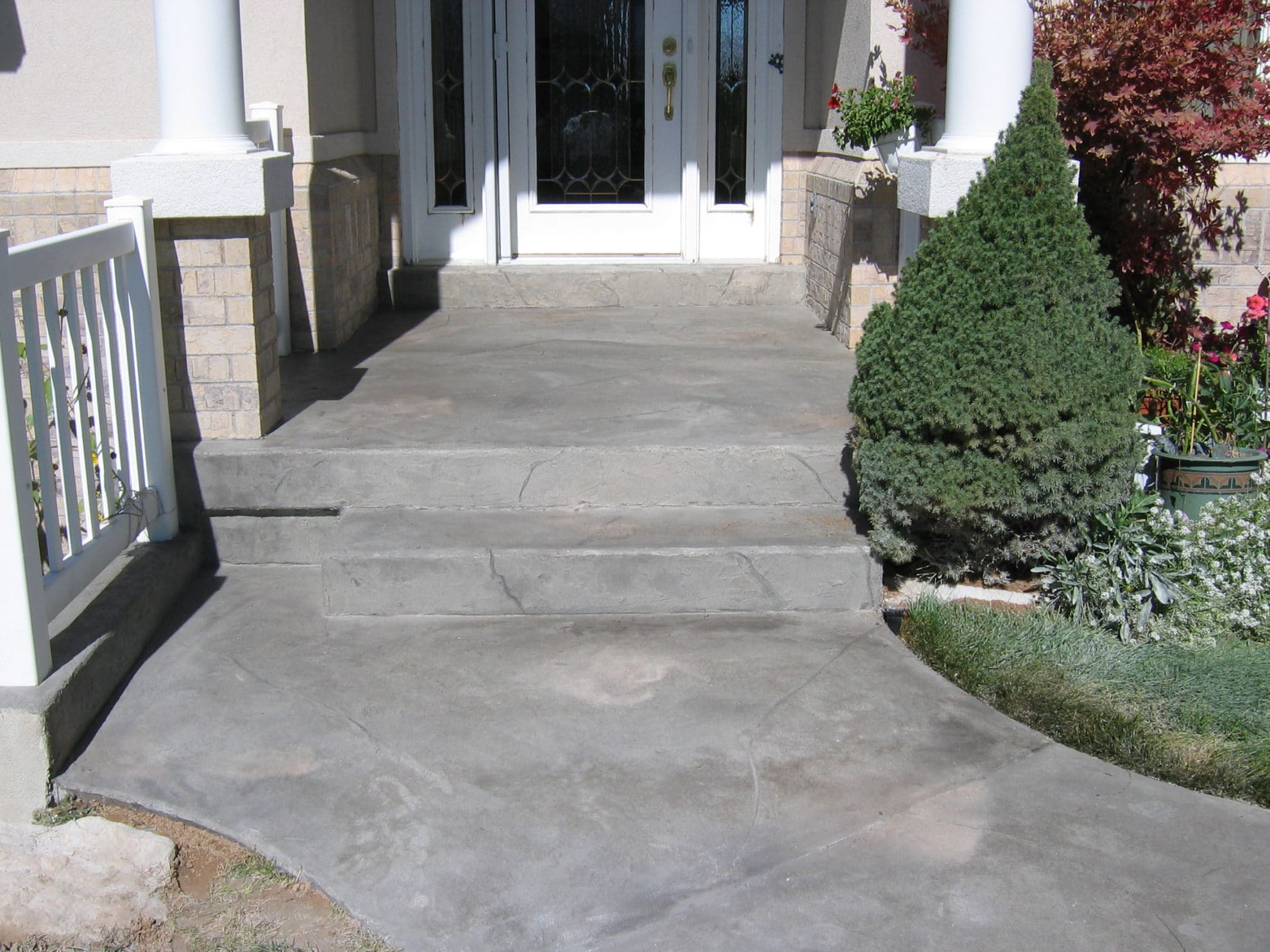 Entry Cracked Rock Overlay Concrete Design Systems
