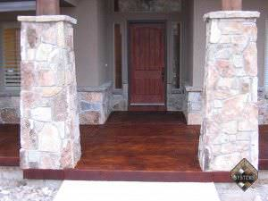 Entry Porch Acid Stained Overlay
