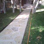 Entry Walkway Stone Pattern
