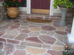 Front Entry RiverStone Overlay
