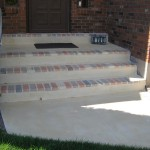 Front Porch Decorative Brick Overlay