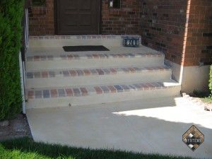 Front Porch Decorative Brick Overlay