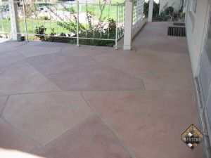 Concrete Garage Deck Flagstone Overlay