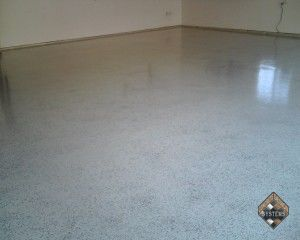 Garage Floor Beige Urethane With Color Chips