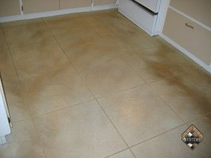 Concrete Overlay Kitchen Tile Pattern