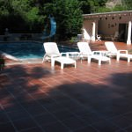 Concrete Overlay Tile Pool Deck