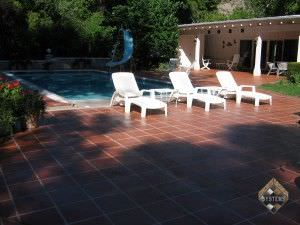 Concrete Overlay Tile Pool Deck