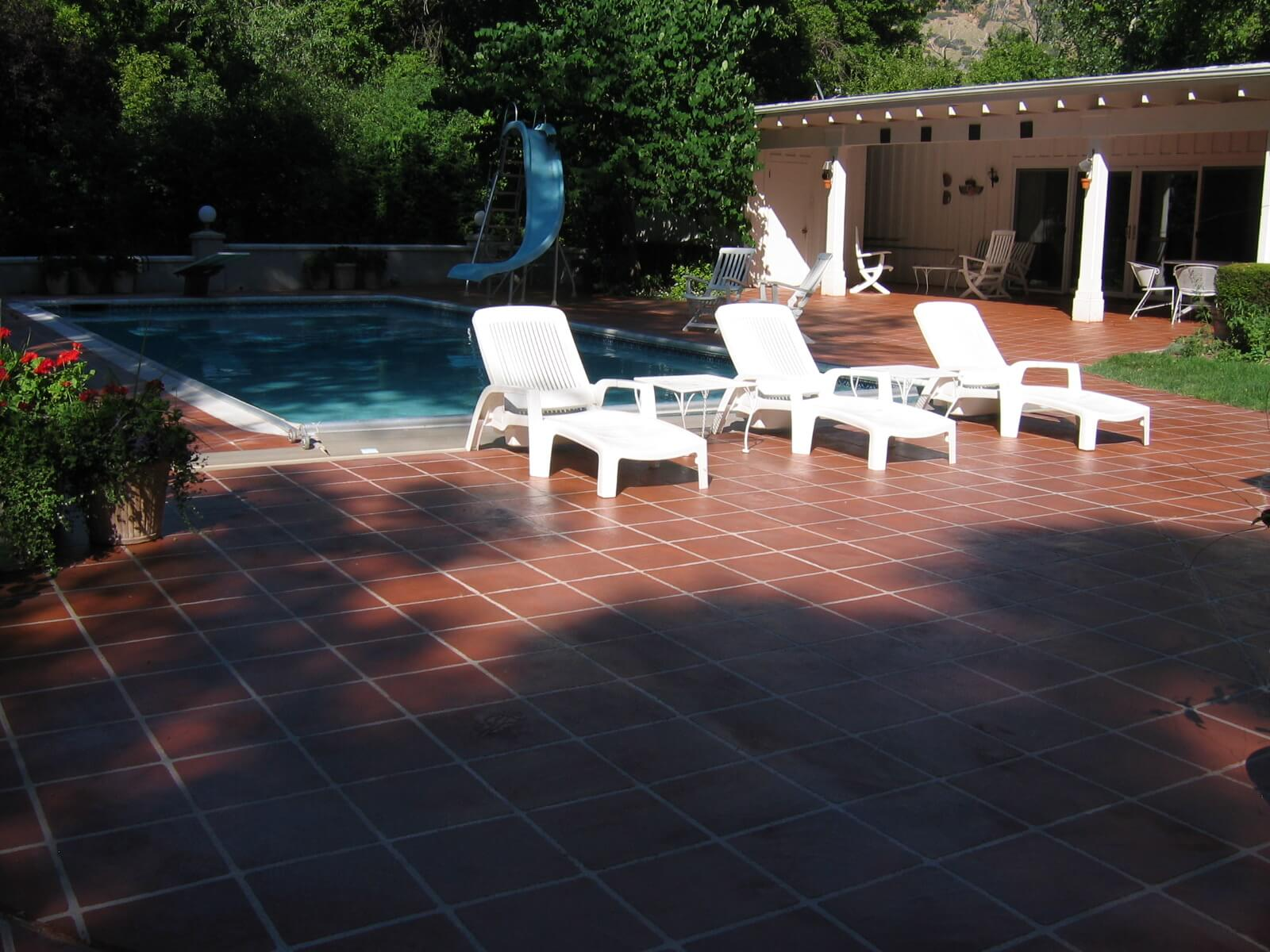 Concrete overlay tile pool deck concrete design systems for Pool design utah