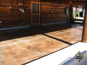 Concrete Patio Acid Stained