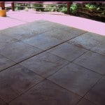 Patio Carved Stained Overlay