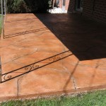 Patio Decorative Stained Overlay