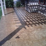 Concrete Patio Stamped Slate