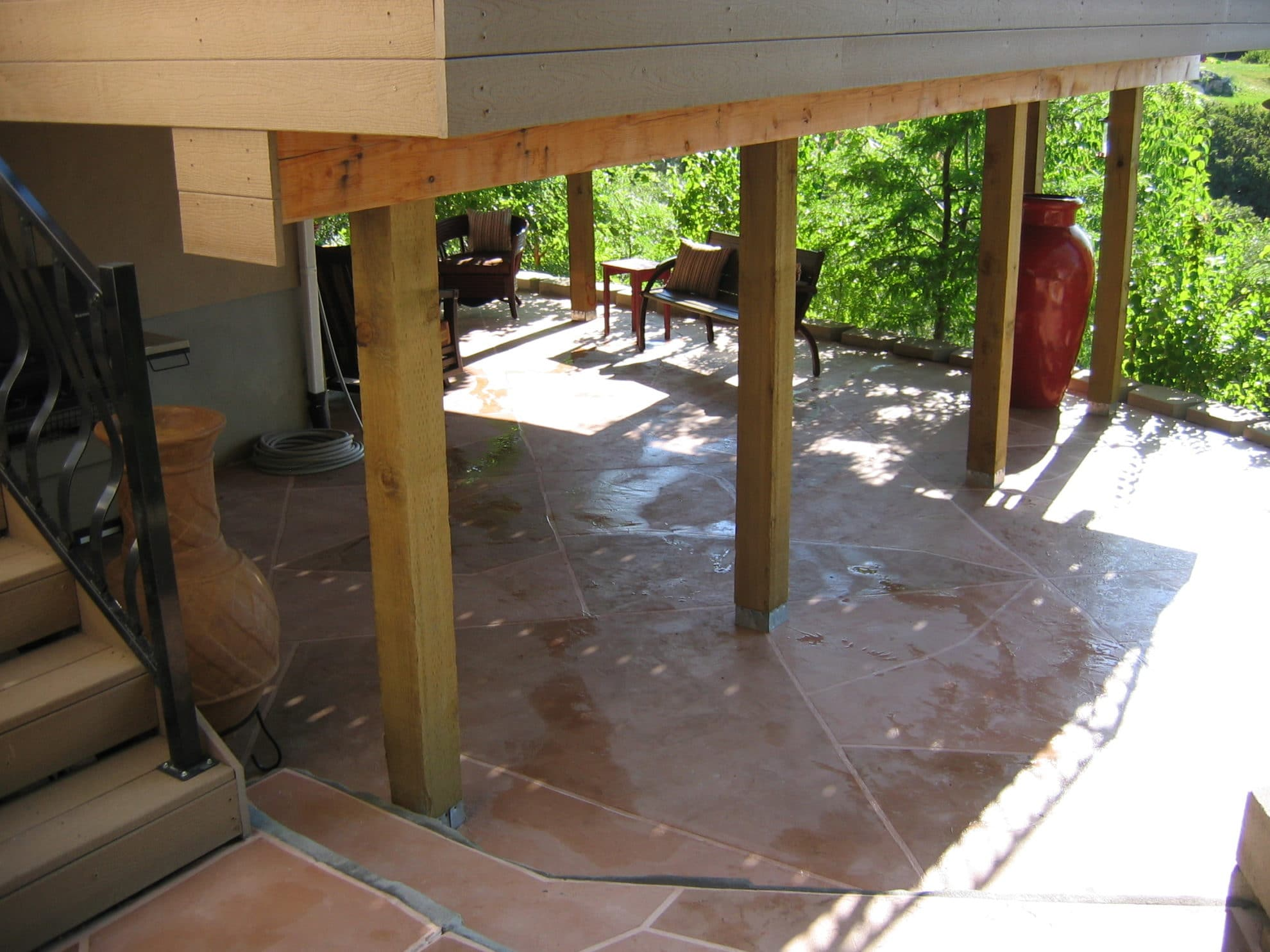 Patio Stone Overlay Concrete Design Systems Salt Lake