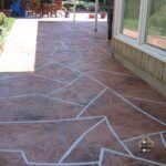 Concrete Patio Stone Pattern Overlay