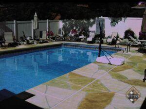 Pool deck Stone Overlay