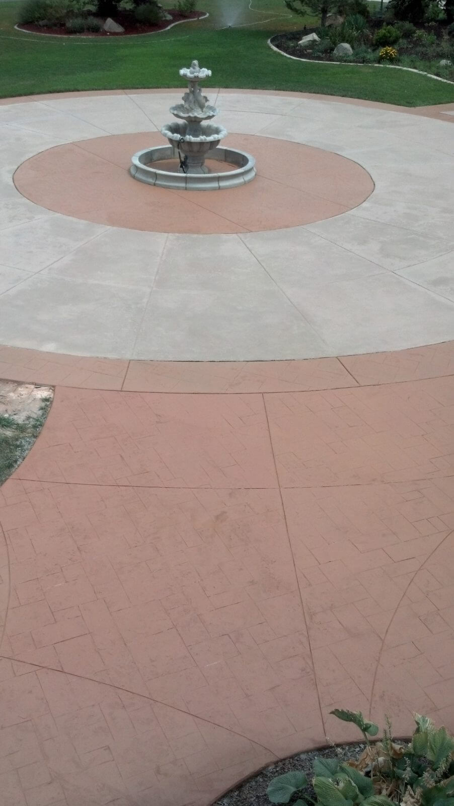 Restored Solid Color Stained Overlay Concrete Design