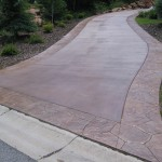 Driveway Stamped With Borders
