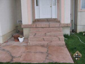 Cracked Rock Entry Porch