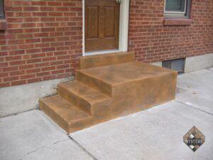 Cracked Rock Rear Porch