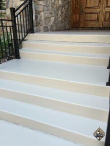 Bone Color Stained Entry Walkway/Porch